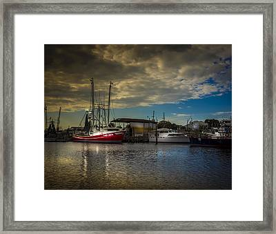 Daybreak On The Captain Jack Framed Print