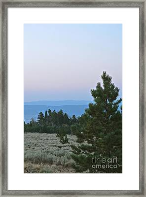 Daybreak On The Mountain Framed Print