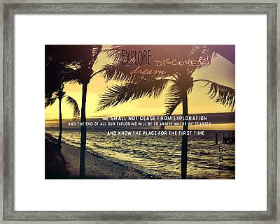 Daybreak Quote Framed Print by JAMART Photography
