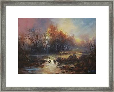 Daybreak Willow Creek Framed Print