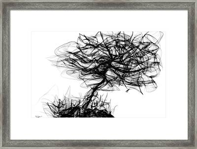 Daydream With Me Under This Old Tree Framed Print by Abstract Angel Artist Stephen K