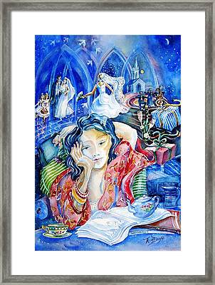 Framed Print featuring the painting Daydreaming Bride by Trudi Doyle