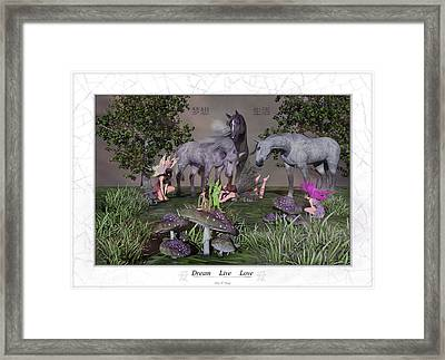 Daydreaming Dreamers Framed Print by Betsy Knapp
