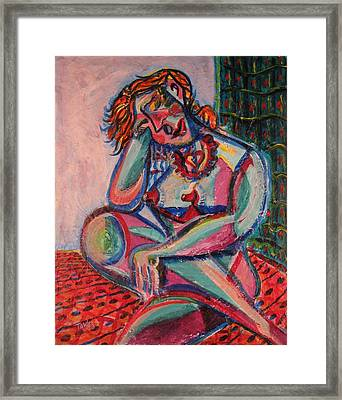 Daydreaming In Color Framed Print by Dennis Tawes