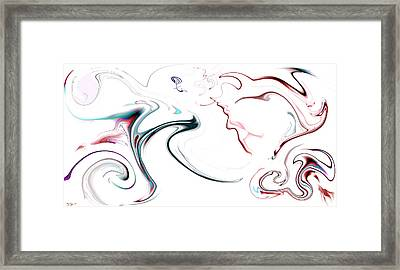 Daydreaming Of Chinese Dragons Framed Print by Abstract Angel Artist Stephen K