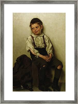 Daydreaming - The Shoe Shine Boy Framed Print