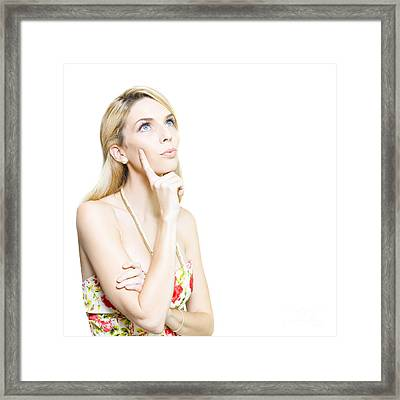 Daydreams Or Pipe Dreams Framed Print
