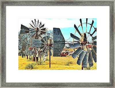 Daylight In The Garden Of Rust And Metal Framed Print