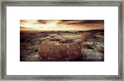 Daylight Leaving Redrock Framed Print