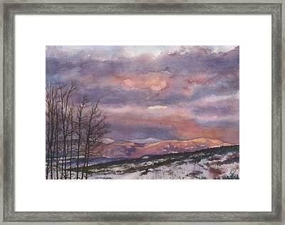 Daylight's Last Blush Framed Print by Anne Gifford