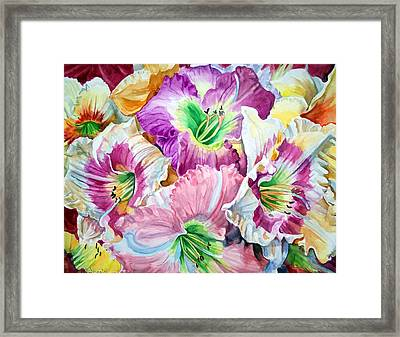 Daylilliesll Framed Print by Bette Gray
