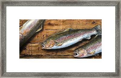 Day's Catch Framed Print by Chad Berglund