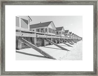 Framed Print featuring the photograph Days Cottages Row From The Beach by Edward Fielding