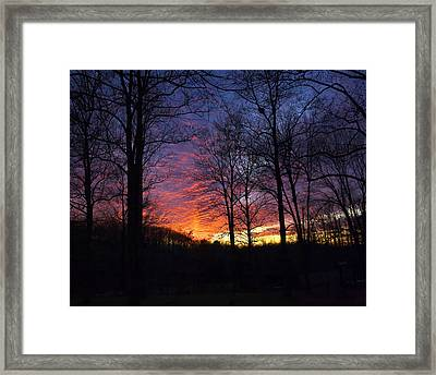 Framed Print featuring the photograph Day's End by Alan Raasch