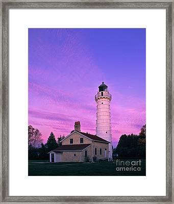 Days End At Cana Island Lighthouse - Fm000003 Framed Print