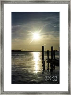 Days End At Cooper River Framed Print by Jennifer White