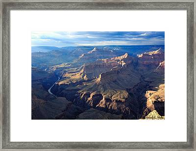 Framed Print featuring the photograph Day's End At Pima Point by Beverly Parks