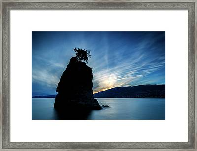 Day's End At Siwash Rock Framed Print by Stephen Stookey