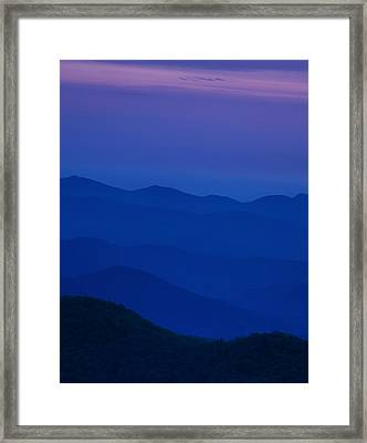 Day's End At The Blue Ridge Framed Print by Andrew Soundarajan