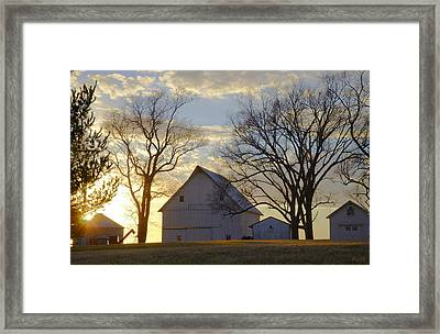 Days End At The Farm Framed Print