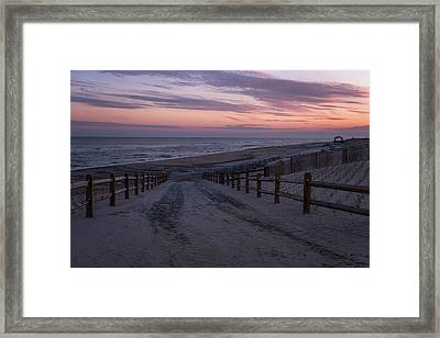 Days End Beach Haven New Jersey  Framed Print