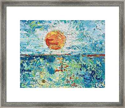 Framed Print featuring the painting Day's End by Chris Rice