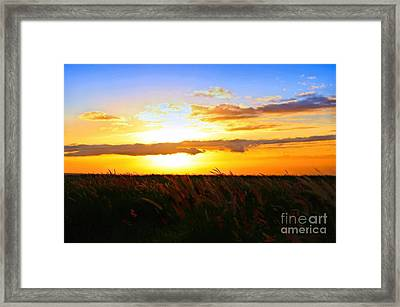Framed Print featuring the photograph Day's End by DJ Florek
