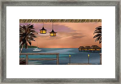 Days End Framed Print by Gordon Beck