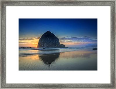 Day's End In Cannon Beach Framed Print by Rick Berk
