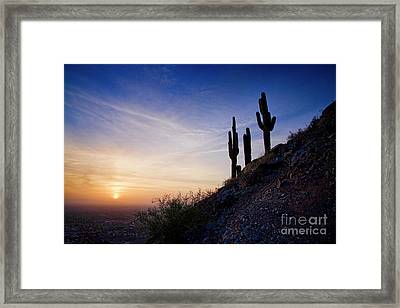 Framed Print featuring the photograph Days End In The Desert by Scott Kemper
