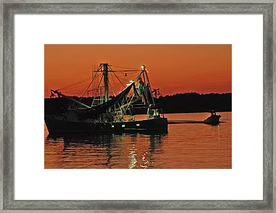 Days End Framed Print by Margaret Palmer