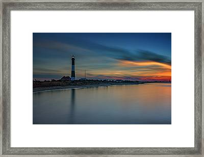 Day's End On Fire Island Framed Print by Rick Berk
