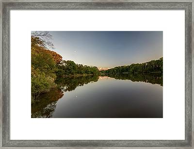 Framed Print featuring the photograph Day's End On The Creek by Charles Kraus