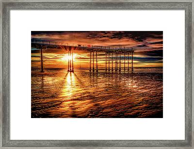 Days End Framed Print by Richard Sayer