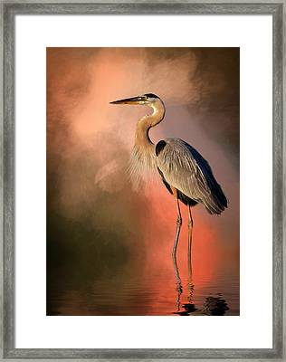Day's Fiery End Framed Print