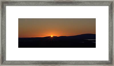 Framed Print featuring the photograph Days First Light I Hdr by Greg DeBeck