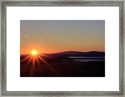 Framed Print featuring the photograph Days First Light IIi Hdr by Greg DeBeck