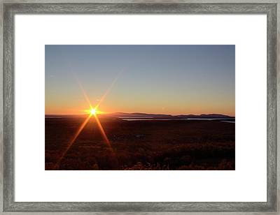 Framed Print featuring the photograph Days First Light Iv Hdr by Greg DeBeck