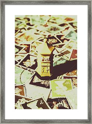 Days From The Vintage Post Office Framed Print