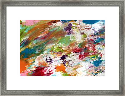 Days Gone By- Abstract Art By Linda Woods Framed Print