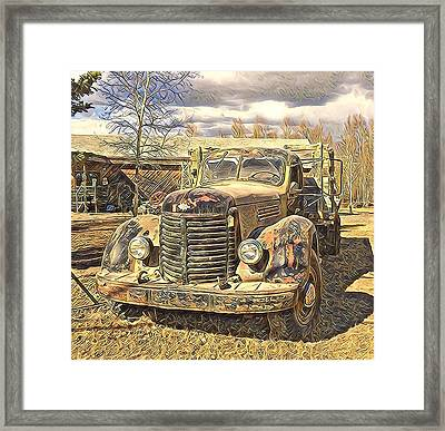 Days Of Old Canol  Framed Print