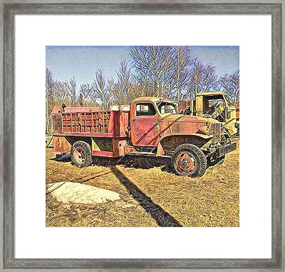 Days Of Old Canol Pipeline Project  Framed Print