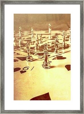 Days Of Old Game Play Framed Print
