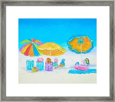 Days Of Sun And The Beach Framed Print