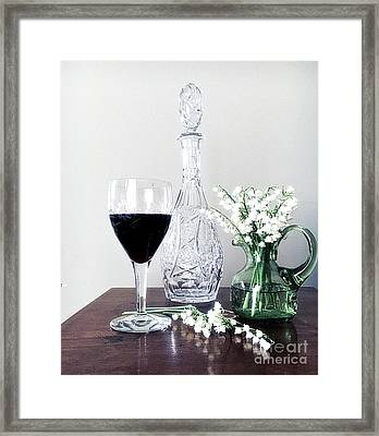 Days Of Wine And Lilies Framed Print