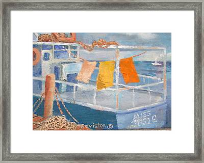 Framed Print featuring the painting Day's Work by Tony Caviston