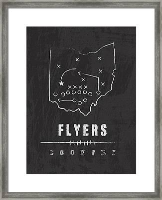 Dayton Flyers / Ncaa College Football Art / Ohio Framed Print by Damon Gray