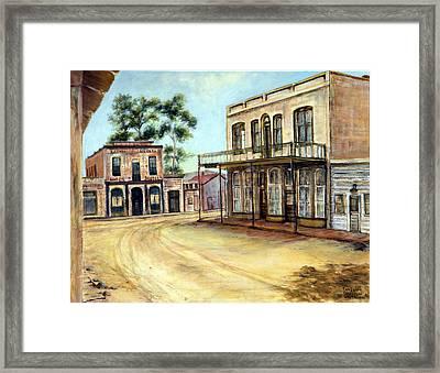 Dayton Nevada Framed Print by Evelyne Boynton Grierson