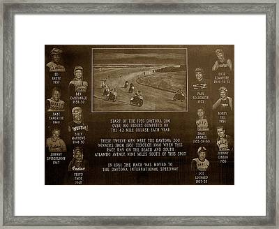 Daytona 200 Plaque Framed Print by David Lee Thompson