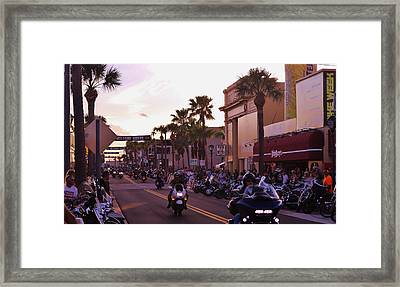 Daytona Beach Bike Week Framed Print